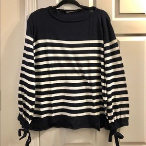 Zara Striped Blue & White Sweater